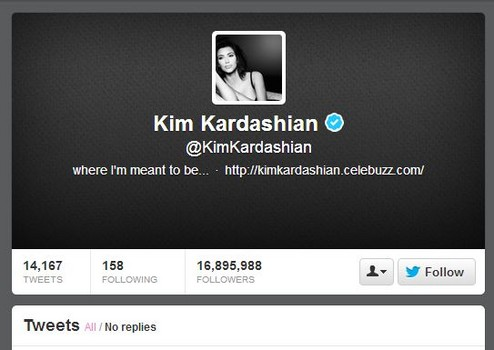 most hated stars on twitter in 2012: kim kardashian - national celebrity headlines